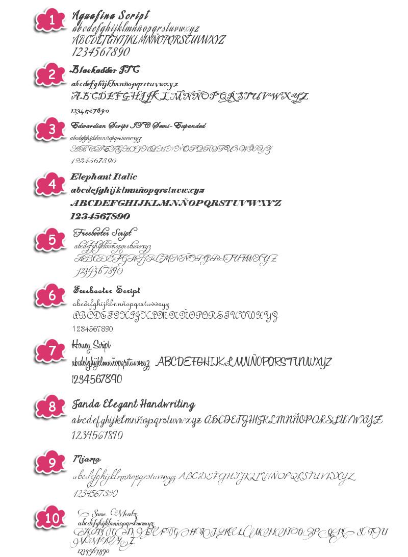 Tipos De Letras Elegantes Djdarevecom